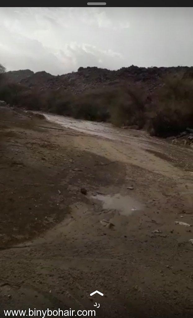 هطول امطار وادي قنونا اليوم 5w729210.jpeg