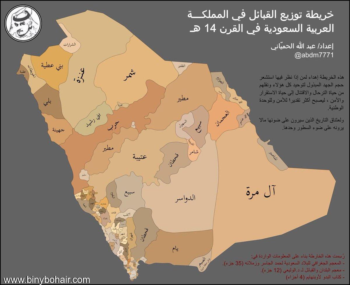 """خريطة""""توزيع القبائل المملكة العربية السعودية lrd85782.jpg"""