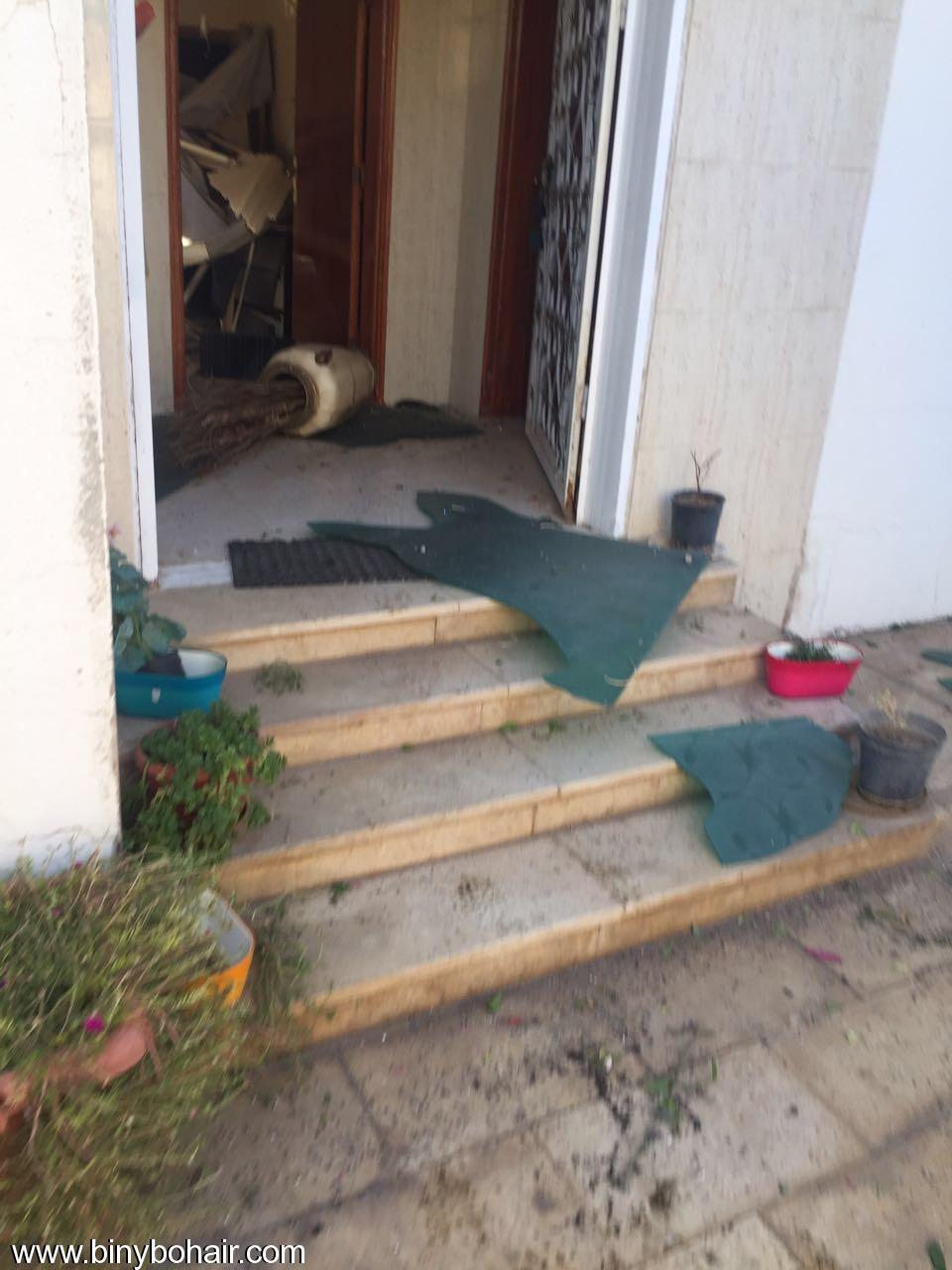 """بالصور ..سقوط قذائف منزل """" oxj71887.jpeg"""